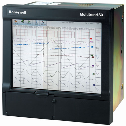 4 20ma Digital Chart Recorder : Honeywell multitrend sx paperless recorder